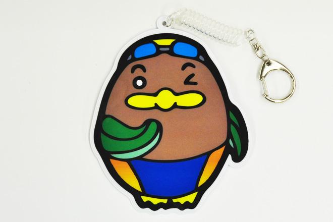 スイミングスクールのオリジナルキャラクター型PVCパスケース