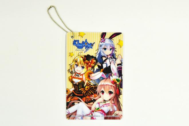 ゲームの人気キャラクターイラストを印刷したPVCパスケース