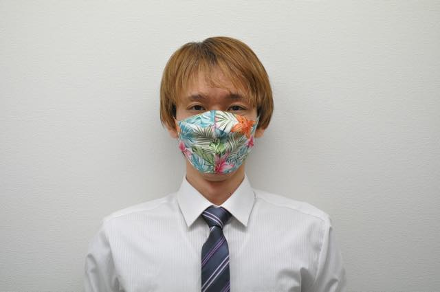 オリジナルマスクの着用イメージ